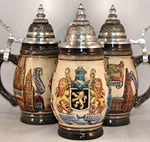 Zoeller & Born Rustic Belgium Relief German Beer Stein 0.25 Liter by Zoller & Born