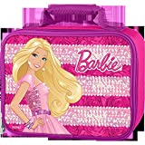 Thermos Barbie Rectangle Soft Lunch Kit - Pink with Purple Trim