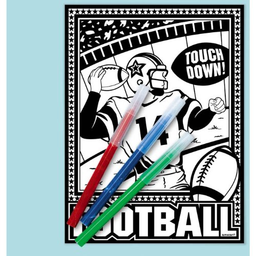 Football Coloring Kit Party Accessory