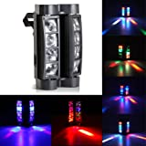 Ogori Octopus style light DJ Moving Head Lights Beam 8x10W RGBW Strobe Effect with DMX for Party LED Stage Lighting (Color: 1 pack)
