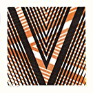 V by James Brown (Alphabet Lino Print)