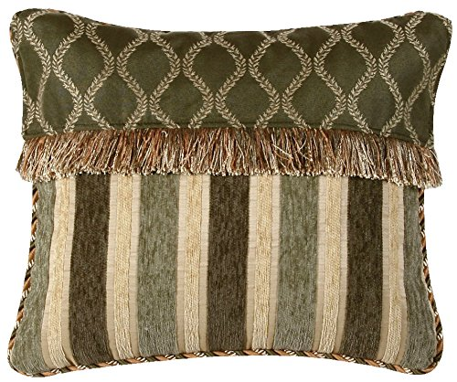 Jennifer Taylor Contessa Collection Pillow, 15-Inch by 18-Inch