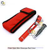 FIBER OPTIC MINI OTOSCOPE RED COLOR (DIAGNOSTIC SET) G.S INSTRUMENTS