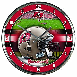 NFL Tampa Bay Buccaneers Chrome Clock by WinCraft