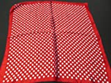 Small Square Red Polka Dots Spotted print silk satin feel ladies fashion scarf 19