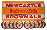 NEWCASTLE BROWN ALE Pub Bar Towel & 10 Beer Mats Coasters