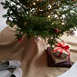 Christmas Burlap Tree Skirt Under The...