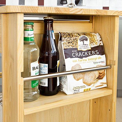 Sobuy carrellino salvaspazio scaffale da cucina carrello di servizio in legno naturale fkw12 - Scaffale cucina ...