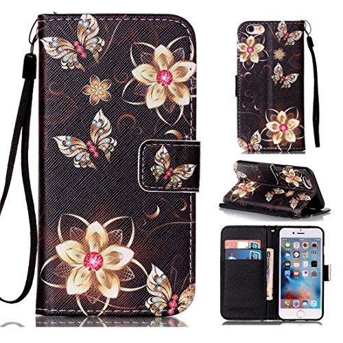 Nancen-Apple-iphone-6-6S-47-Zoll-Hlle-Bunt-PU-Leder-Brieftasche-Schutzhlle-Bookstyle-Flip-Case-Wallet-Cover-mit-Standfunktion-Kartenfcher-und-Magnetverschluss-Klapp-Protective-Etui-Handytasche