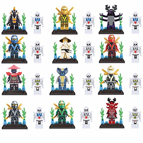 12 pcs/set Ninja Minifigures Brick set Building Blocks Action Figures Classic Toys