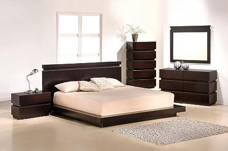 J&M Furniture Knotch Expresso Veneer Bedroom Set - Queen Size