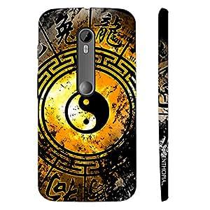 Motorola Moto G3 3rd Gen Ying Yang Signs designer mobile hard shell case by Enthopia