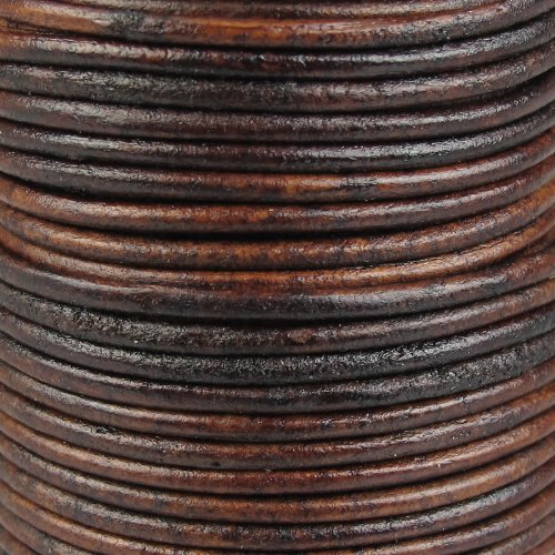 Jewellery of Lords 5 Meters Antique Dark Brown 3mm High Quality Round Cord Real Leather String Lace Thong Jewellery Making