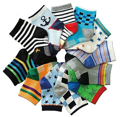 B&S FEEL Baby's Assorted 12 Pairs Cotton Socks (Anti-slip 1 to 3 Years Old) (Baby Clothes 12 To 18 Months compare prices)