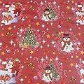 Wachstuch Breite 120 cm Länge wählbar - Weihnachten Zuckerstange Rot - Main abwaschbare Tischdecke Gartentischdecke von DHT-WT120cm auf Gartenmöbel von Du und Dein Garten