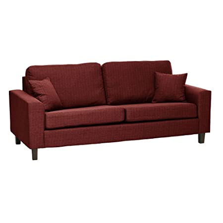 Sabichi–Richmond 3plazas Sofá Rojo Moderno Salón Suave Calidad muebles sc00015