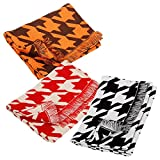 Bundle Monster 3pc Houndstooth Check Cold Weather Kids Toddler Infinity Scarves