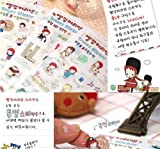 ONOR-Tech 6 Sheets Lovely Cute Red Hair Girl Decorative Scrapbooking Craft Sticker Diary Album Sticker Adhesive