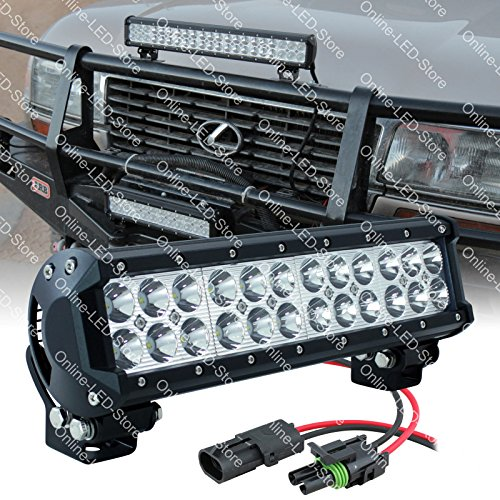 """Lamphus Cruizer 12"""" 72W Cree Led Off Road Power Sports Vehicle Light Bar (Other Sizes Available) - Spot"""