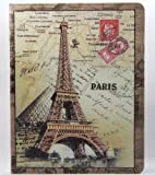 FOM Retro Stamp Overpass Pattern PU Leather Protective Case for iPad 2 the new iPad/Apple iPad 3 - Eiffel Tower