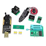 Other Electronics,dezirZJjx USB Programmer,4Pcs/Set CH341A 24 25 EEPROM BIOS USB Programmer Burner Chip Clip SOIC8 Adapter