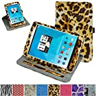 Mama Mouth 360 Degree Rotating Stand With Cute Lovely Pattern Case for 7.85 Trio AXS 4G 3G Android Tablet, Leopard Brown