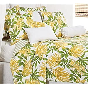 Dorm Bedding Girls Hawaiian Hibiscus Teen Full Comforter Set