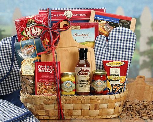 Send Fresh Cut Flowers - Hot Off the Grill Mixed Gift Basket