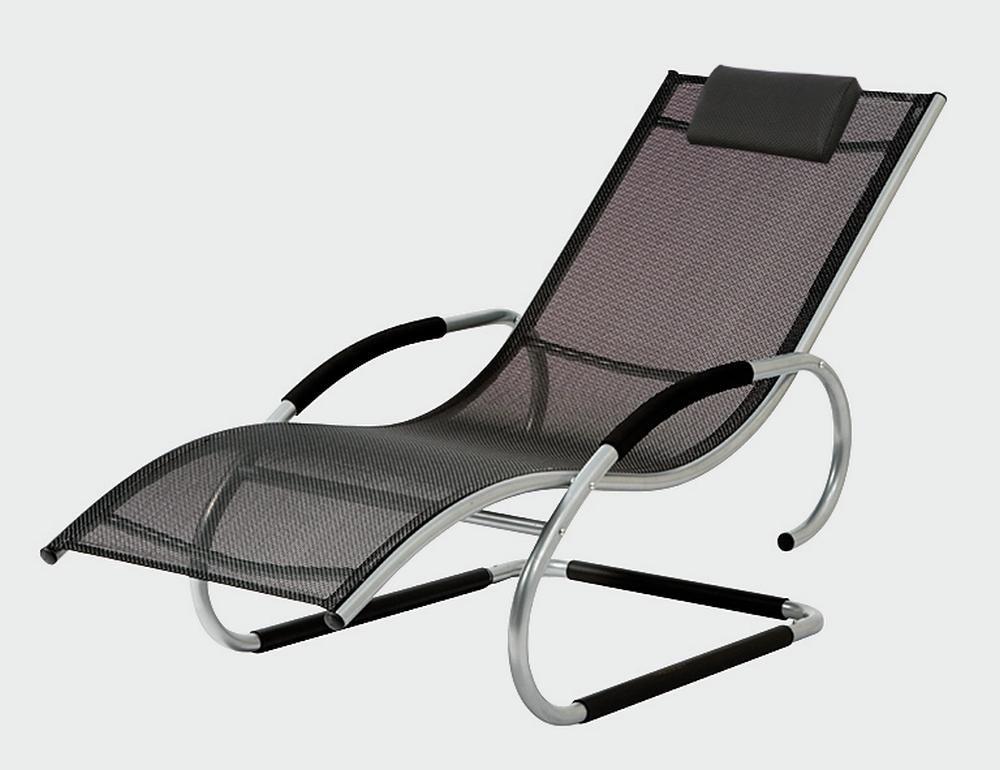 2er Set SIENA GARDEN Adria Swingliege Gestell: Aluminium silber Geflecht: schwarz, Bäderliege, Wellnessliege, Danto® Vorteils-Set online kaufen