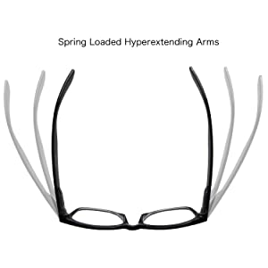 2d878def3d 4 Pairs Deluxe Wayfarer Style Reading Glasses - Standard Fit Spring Hinge  Readers Black and ...