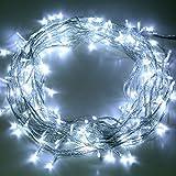 Liqoo-230V-20m-200LEDs-Wei-LED-Lichterkette-Weihnachten-Party-Dekoration-Beleuchtung-Dekodraht-Leuchte-fr-Innen-und-Auen