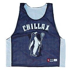 Chillax Penguin Lacrosse Pinnie