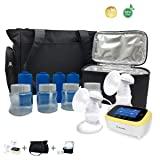 BelleMa Euphoria Pro Double Electric Breast Pump, Innovative 3D Pump System, Hospital Grade Closed System/IDC / Touch Screen/Cordless (Value Pack)