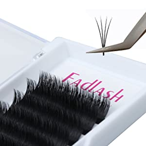 Volume Lash Extensions D Curl 2D 3D 4D 5D 6D Any Fans 0.07mm 15mm Faux Mink Individual Lashes False Eyelashes Clusters 7D 9D 10D Professional Flare Lashes Knot-free by FADLASH (Color: 15mm, Tamaño: 0.07mm D curl)