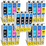 Compatible Epson Expression XP-405 Ink Cartridges 8X Black 4X Cyan 4X Magenta 4X Yellow (20-Pack)