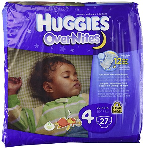 Huggies Overnites Diapers, Jumbo Pack, Size 4, 22-37 lbs, 27 ea, 1 pack - 1