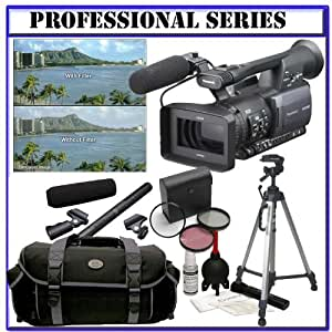 Panasonic Pro AG-HMC150 3CCD AVCHD 24fps Camcorder + Willoughby's Two (2) 16GB SD Advanced On-The-Go or Stop-N-Film Shooter Package