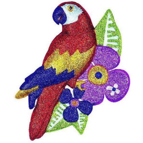 Vac Form Glitter Parrot