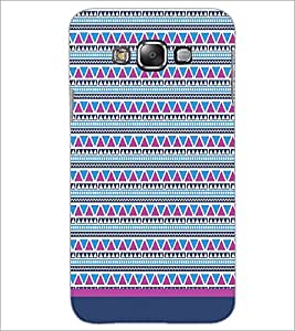 PrintDhaba Tribal pattern D-1756 Back Case Cover for SAMSUNG GALAXY E7 (Multi-Coloured)