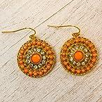 Coral Disk Earrings