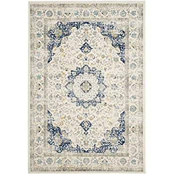 Safavieh Evoke Collection EVK220C Oriental Vintage Ivory and Blue Area Rug (9' x 12')