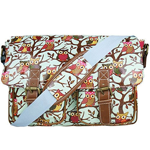MISS-LULU-RETRO-VINTAGE-OWL-LEAVES-BUTTERFLY-OILCLOTH-OR-CANVAS-LADIES-CROSS-BODY-SATCHEL-MESSENGER-SHOULDER-SCHOOL-HAND-BAG