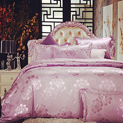 Home Feeling Jacquard Bedding Series Amorous Feelings Quilt Cover & Flat Sheet & Pillowcase