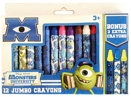 Disney*Pixar Monsters University 12 Jumbo Crayons