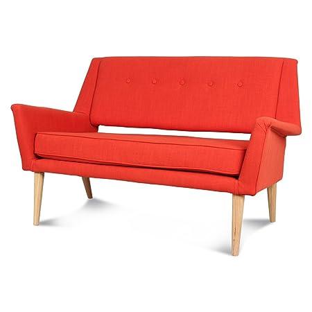 2Seater Sofa in Orange Canvas Brando