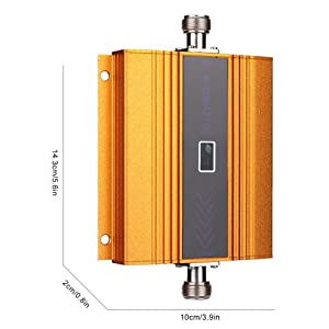 Tangxi Phone Signal Amplifier, W-CDMA 2100MHz LCD 3G Mobile Signal Booster Repeater Golden US Plug (Color: default)