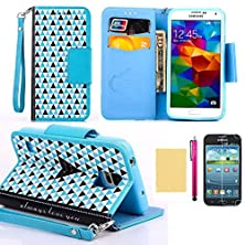 buy Note 4 Case, [Britain Style] Premium Pu Leather Wallet Case [Cyellowit Card Pockets] Magnetic Closure Flip Cover [Stand Function] Fitted Shell For Samsung Galaxy Note 4(Air Blue)