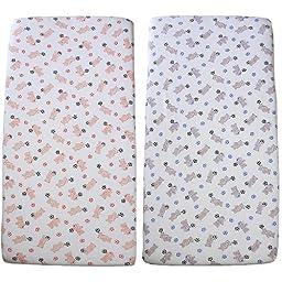 BabyPrem Nursery Bedding 1 Fitted Cradle Mattress Sheet 17 x 33\