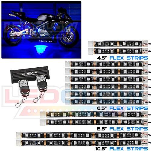 12Pc Advanced Blue Smd Led Motorcycle Light Kit