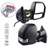 MOSTPLUS New Power Heated Towing Mirrors for Ford F250 F350 F450 F550 Super Duty 1999 2000 2001 2002 2003 2004 2006 2007 w/Turn Signal,Clearance Light (Set of 2) (Color: 1999-2007 Ford F250 , F350 , F450 , F550---Black Housing Mirror)